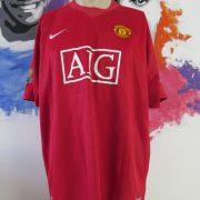 Manchester United 2007-09 home shirt Nike soccer jersey Berbatov 9 size XXL (1)