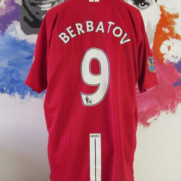 Manchester United 2007-09 home shirt Nike soccer jersey Berbatov 9 size XXL (2)