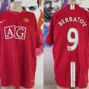 Manchester United 2007-09 home shirt Nike soccer jersey Berbatov 9 size XXL (8)