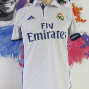 Real Madrid 2016-17 LFP home shirt adidas soccer jersey size S (6)
