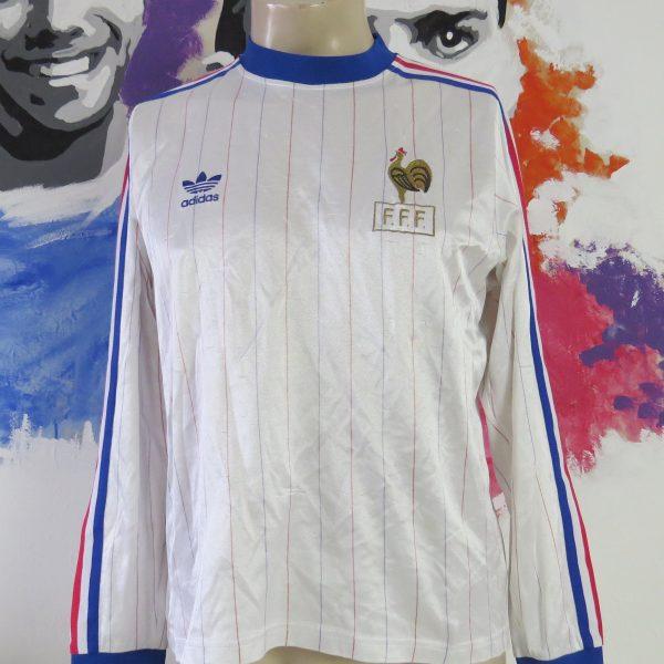 Retro France 1980-81 away shirt adidas originals ls jersey size M vintage (1)