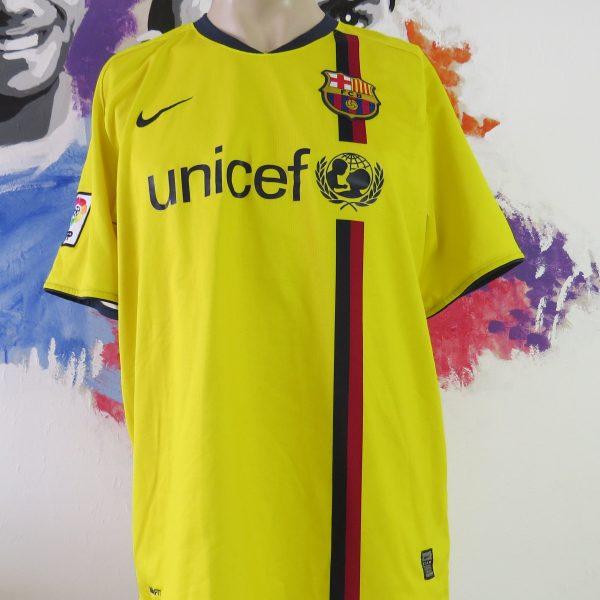 Vintage Barcelona 2008-10 yellow away shirt Nike soccer jersey size L (1)