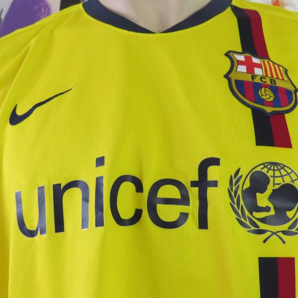 Vintage Barcelona 2008-10 yellow away shirt Nike soccer jersey size L (3)