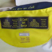 Vintage Barcelona 2008-10 yellow away shirt Nike soccer jersey size L (4)