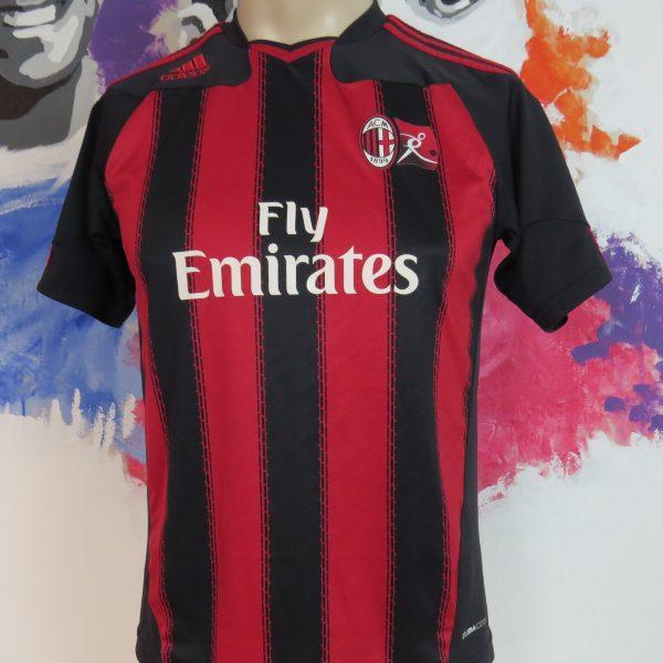 AC Milan 2011-12 training home shirt adidas soccer jersey size XS (1)