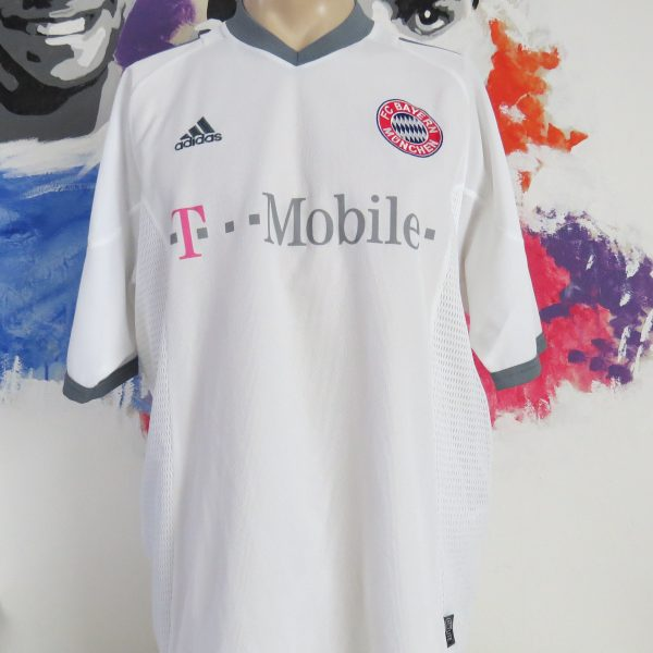 finest selection aed27 038e0 Bayern Munich 2002-03 away shirt adidas jersey Ballack #13 size XL signed