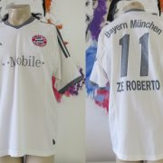 Bayern Munich 2002-03 away shirt adidas soccer jersey Ze Roberto #11 size L (1)
