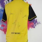 Borussia Dortmund 2007-08 home shirt Nike jersey size S 7 signatures (6)