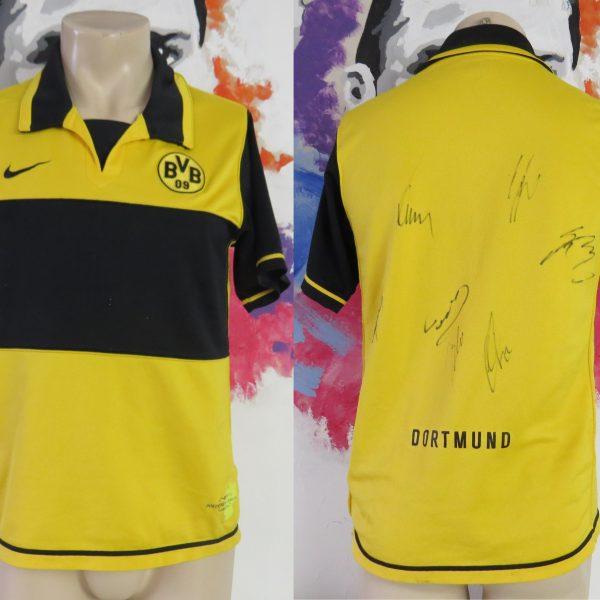 Borussia Dortmund 2007-08 home shirt Nike jersey size S 7 signatures