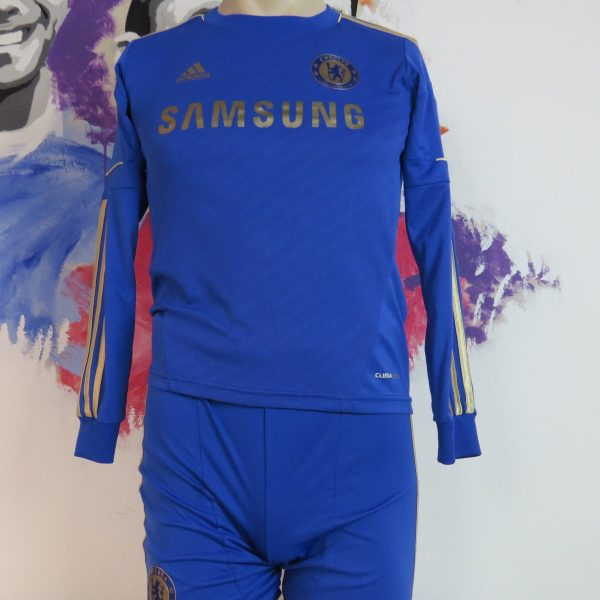 Chelsea 2012-13 ls home kit shirt adidas EPL soccer jersey shorts boys M 11-12Y 152 (1)