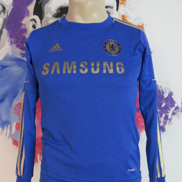 Chelsea 2012-13 ls home kit shirt adidas EPL soccer jersey shorts boys M 11-12Y 152 (2)
