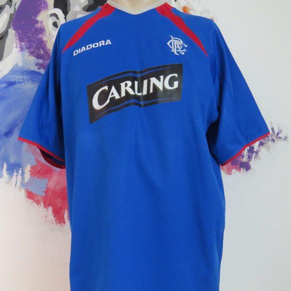 info for e4e7f 866d7 Vintage Glasgow Rangers 2003 2004 2005 home shirt Diadora soccer jersey  size XL