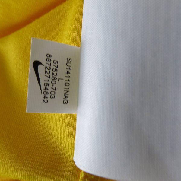 Brazil 2014 2015 home shirt Nike soccer jersey World Cup 2014 size L Brasil (4)