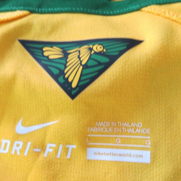 Brazil 2014 2015 home shirt Nike soccer jersey World Cup 2014 size L Brasil (6)