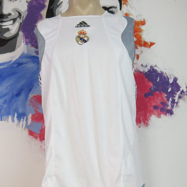 pretty nice e2a33 0df6e Real Madrid 2003-04 white training shirt sleeveless vest adidas jersey size  M