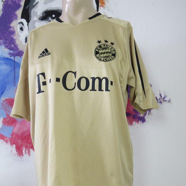 best sneakers 4a4e5 9a923 Vintage Bayern Munchen 2004 2005 Away Shirt Adidas Soccer jersey Size L gold