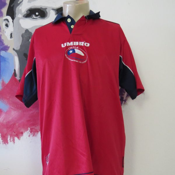 Vintage Chile 2000 2001 2002 home shirt Umbro soccer jersey size L (1)