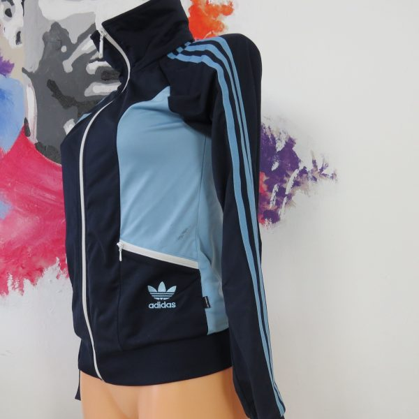 Adidas originals blue retro 1980ies style women's tracksuit size S EU36 UK8 (1)