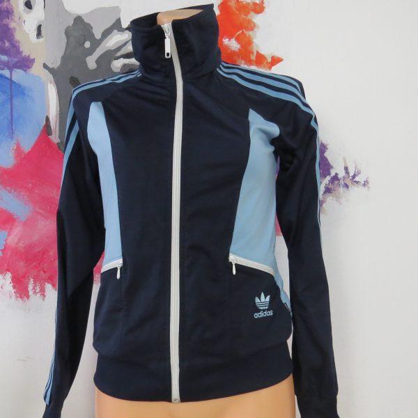 Adidas originals blue retro 1980ies style women's tracksuit size S EU36 UK8 (6)