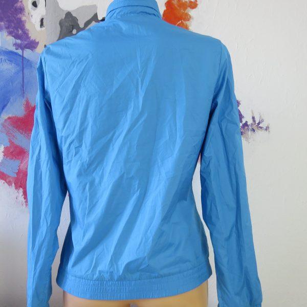 Adidas originals blue yellow women's tracksuit jacket hooded size UK 10 EU 36 (2)