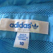 Adidas originals blue yellow women's tracksuit jacket hooded size UK 10 EU 36 (3)