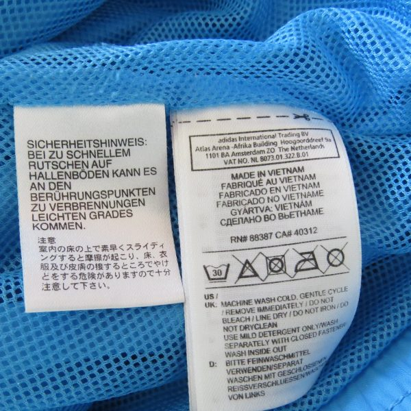 Adidas originals blue yellow women's tracksuit jacket hooded size UK 10 EU 36 (5)
