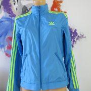 Adidas originals blue yellow women's tracksuit jacket hooded size UK 10 EU 36 (7)