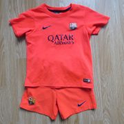 Barcelona 2014 2015 away kit shirt shorts Nike size 110-116 5-6 Years Barca (1)