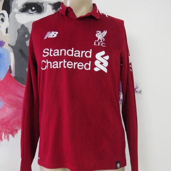 big sale 264b9 3dad2 Liverpool 2018-19 long sleeve home shirt New Balance jersey M Salah 11 size  S