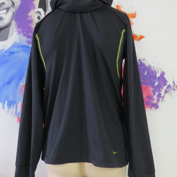 Nike black men's sports hoodie training jumper zip jacket size M (2)