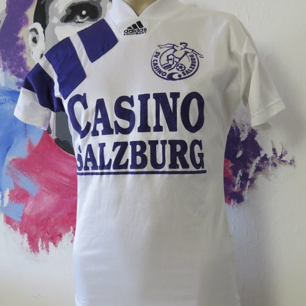 best cheap 4d0c6 98c04 SV Casino Salzburg (Red Bull) 1994-95 home shirt adidas soccer trikot size  XS