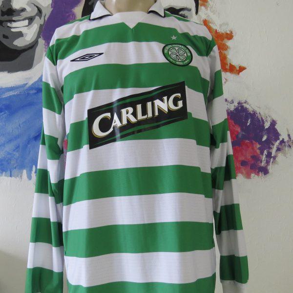 Vintage Celtic 2004 2005 ls home shirt UMBRO soccer jersey size L (1)