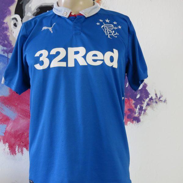 Vintage Rangers 2014 2015 home shirt PUMA soccer jersey size M (1)