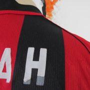 AC Milan 1998 1999 2000 home shirt adidas soccer jersey Weah 14 size S (3)