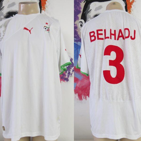 Algeria 2010 2011 home shirt Puma soccer jersey Bel Hadj #3 size XXL