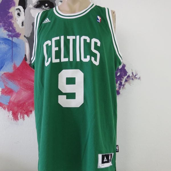 new arrival 5c327 dd8c0 NBA Boston Celtics #9 Rondo 2014 home jersey adidas basketball Shirt size L