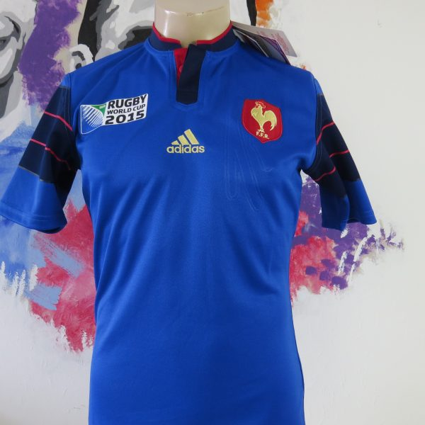 France Rugby World Cup 2015 home shirt adidas Jersey Maillot Size S BNWT (1)