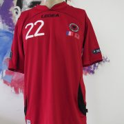 Match worn Albania EURO2012 qualifier shirt Odise Roshi 22 v France 71011 (1)