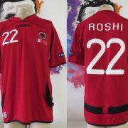 Match worn Albania EURO2012 qualifier shirt Odise Roshi 22 v France 71011