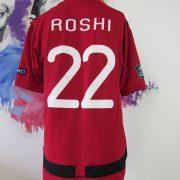 Match worn Albania EURO2012 qualifier shirt Odise Roshi 22 v France 71011 (2)