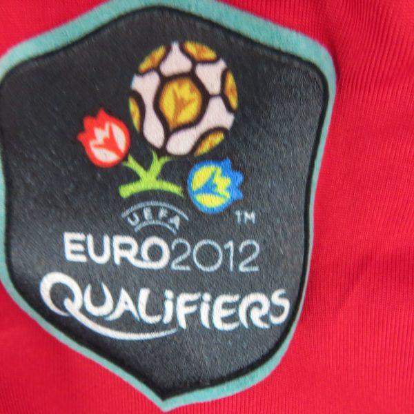 Match worn Albania EURO2012 qualifier shirt Odise Roshi 22 v France 71011 (4)