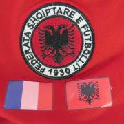 Match worn Albania EURO2012 qualifier shirt Odise Roshi 22 v France 71011 (6)