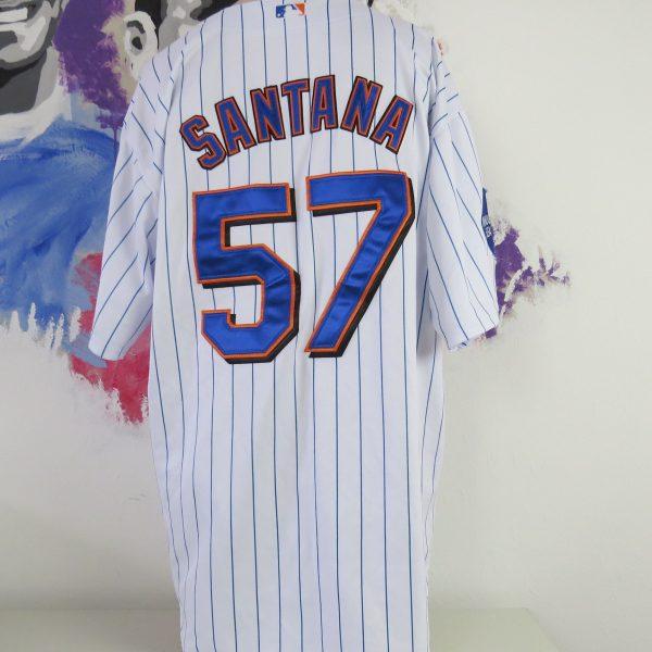 super popular 17471 a1ab0 New York Mets baseball jersey MLB shirt Majestic Santana #57 size 54 XL  2009 Inaugural season