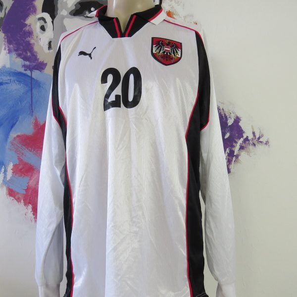 Player issue Austria 1998 1999 2000 ls home shirt Puma Osterreich jersey size XL (1)