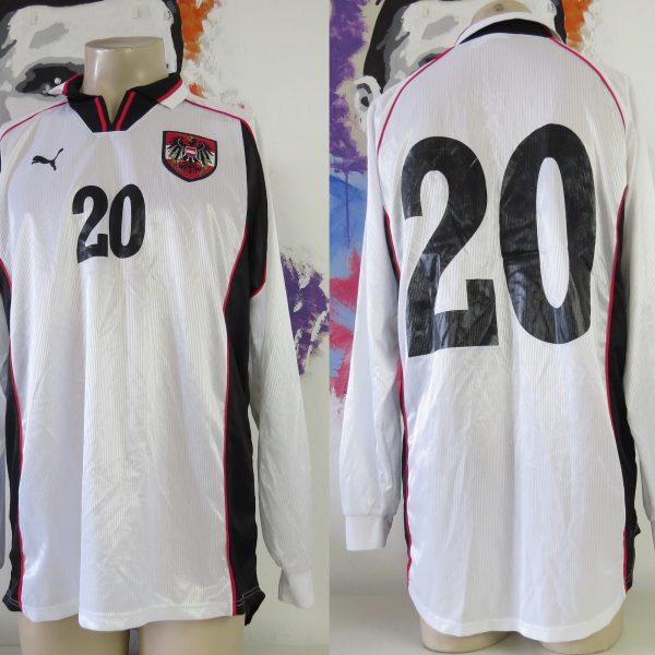 Player issue Austria 1998 1999 2000 ls home shirt Puma Osterreich jersey size XL
