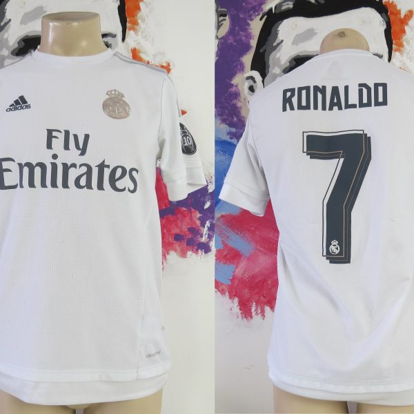 huge discount d6897 3ca23 Real Madrid 2015 2016 CL home shirt adidas soccer jersey Ronaldo #7 size S
