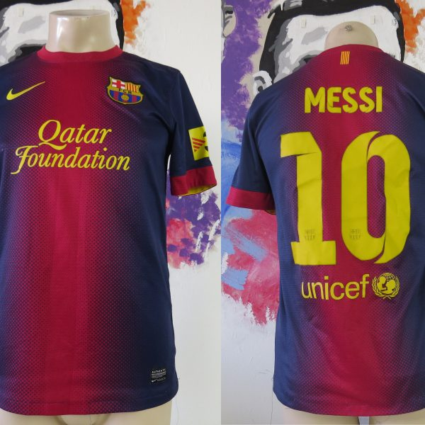 sports shoes fb3d6 b7183 Vintage Barcelona 2012 2013 home shirt Nike soccer jersey Messi 10 size S