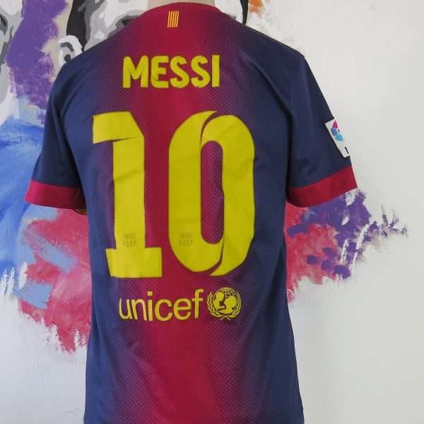 sports shoes f2cdc 21aeb Vintage Barcelona 2012 2013 home shirt Nike soccer jersey Messi 10 size S
