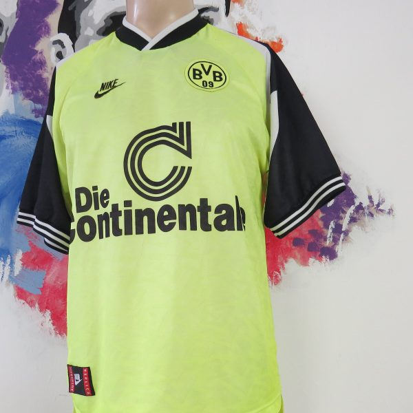 online retailer bec82 ce6ed Vintage Borussia Dortmund 1995 1996 home shirt Nike jersey size trikot  soccer