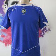 Brazil 2004 2005 2006 away shirt NIKE soccer jersey size Boys L 152-158cm (1)